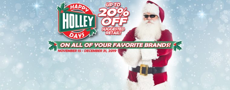 Holley Days is back!!! 20% off!!